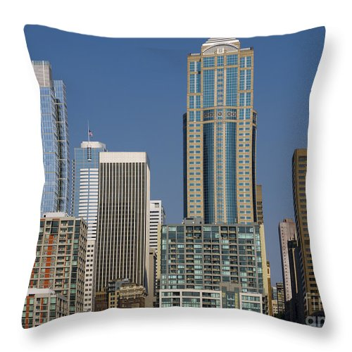 Seattle Throw Pillow featuring the photograph Cityscape Seattle by Brenda Kean