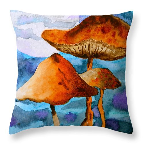 Watercolor Throw Pillow featuring the painting Claiming The Moon by Beverley Harper Tinsley