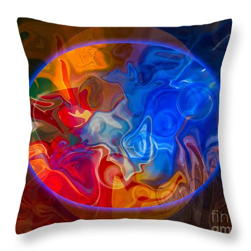 4x5 (8x10) Throw Pillow featuring the painting Clarity In The Midst Of Confusion Abstract Healing Art by Omaste Witkowski