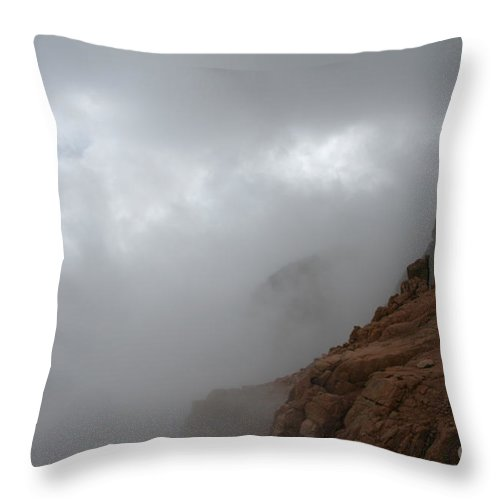 Outdoors Throw Pillow featuring the photograph Clash Of Cloud And Stone by Susan Herber