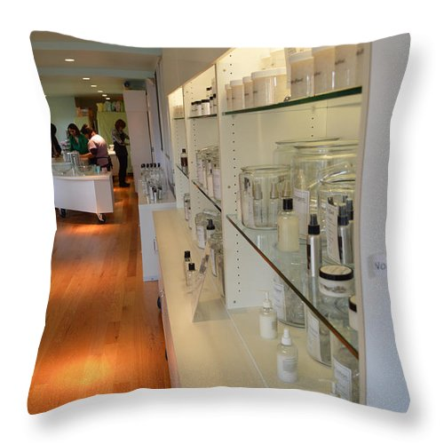 Bridge Street Soap Throw Pillow featuring the photograph Class In Session by JG Thompson