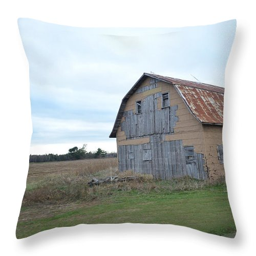 Architecture Throw Pillow featuring the photograph Classic Barn by Maggy Marsh