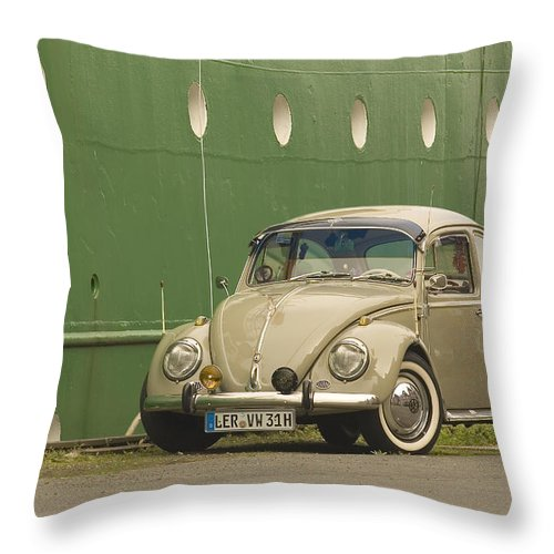 The Perfect Christmas Gift For Vw And Oldtimer Fans! The Volkswagen Beetle Throw Pillow featuring the photograph Classic Beetle 7 by Stefan Bau