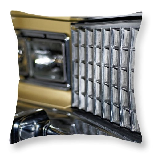 Yellow Throw Pillow featuring the photograph Classic Cadillac by Julie Niemela