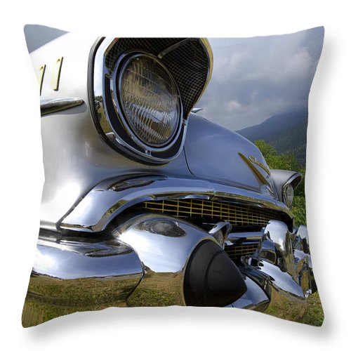 57 Throw Pillow featuring the photograph Classic Chevrolet by Debra and Dave Vanderlaan