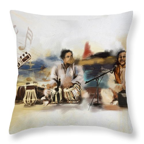 Dancer Throw Pillow featuring the painting Classical Singers by Catf