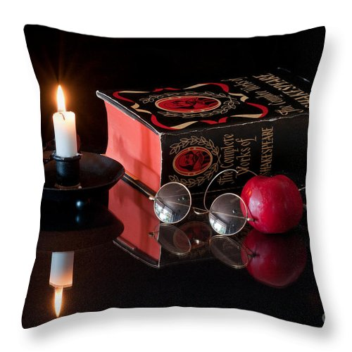 Classicals Reader Throw Pillow featuring the photograph Classicals Reader by Torbjorn Swenelius
