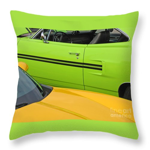 Car Throw Pillow featuring the photograph Classy Classics by Ann Horn