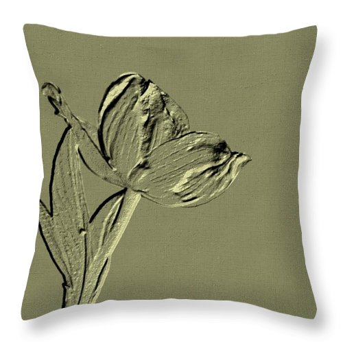 Classy Throw Pillow featuring the digital art Classy by Maria Urso