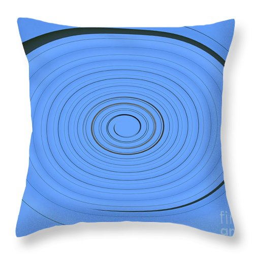 Abstract Throw Pillow featuring the photograph Clean Cool Blue by Tina M Wenger