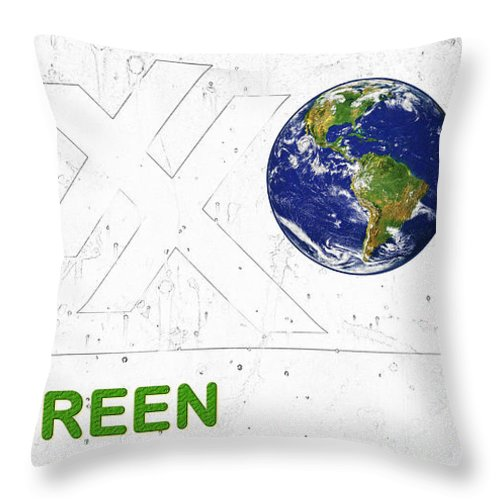 Go Green Throw Pillow featuring the photograph Clean Energy by John Stephens
