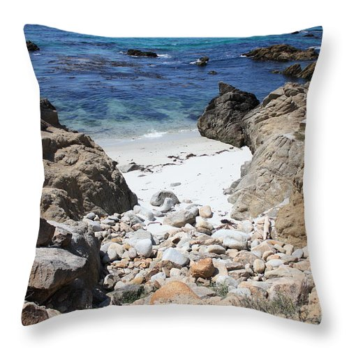 Landscape Throw Pillow featuring the photograph Clear California Cove by Carol Groenen