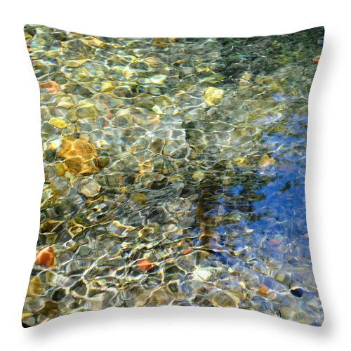 Water Throw Pillow featuring the photograph Clearwater Falls Series 6 by Teri Schuster