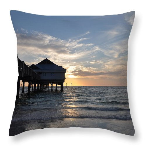 Clearwater Throw Pillow featuring the photograph Clearwater Florida Pier 60 by Bill Cannon
