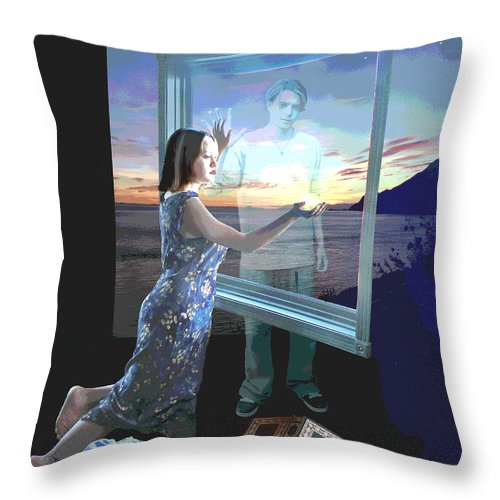 Fantasy Throw Pillow featuring the digital art Clenched Soul by Perri Kelly