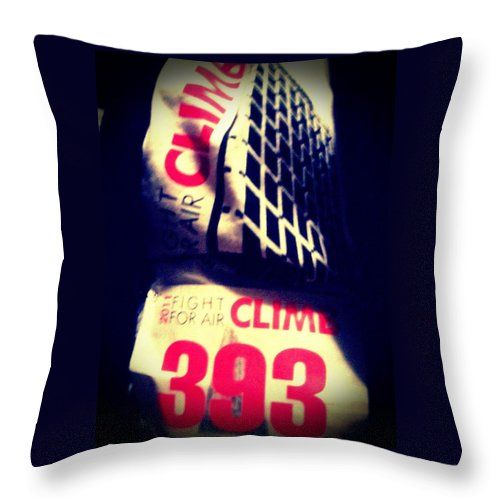 Fitness Throw Pillow featuring the photograph Climb by Barbara Christensen
