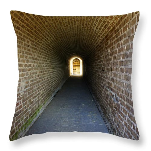 Hall Throw Pillow featuring the photograph Clinch Hall by Laurie Perry