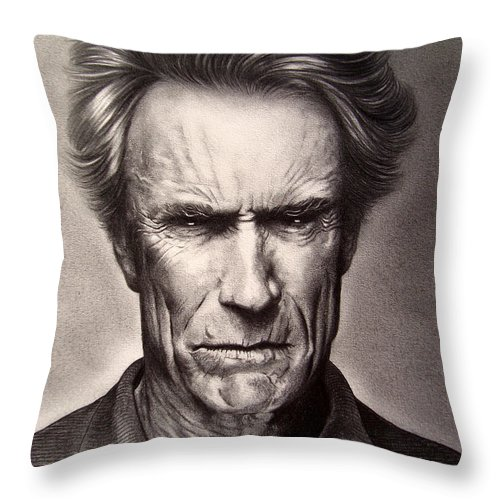 Clint Eastwood Throw Pillow For Sale By Enric Bug