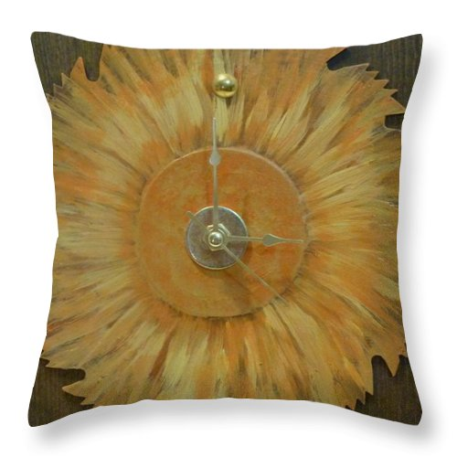 Clock Throw Pillow featuring the photograph Clock by Karen Capehart