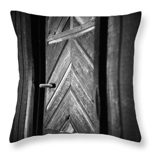 Door Throw Pillow featuring the photograph Closed Doors by Aaron Aldrich