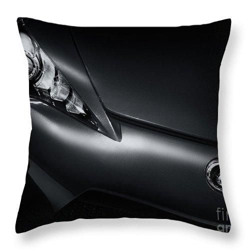 Lexus Throw Pillow featuring the photograph Closeup Of Lexus Lfa Car by Oleksiy Maksymenko