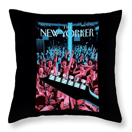 Closing Set Throw Pillow featuring the painting Closing Set by R Kikuo Johnson