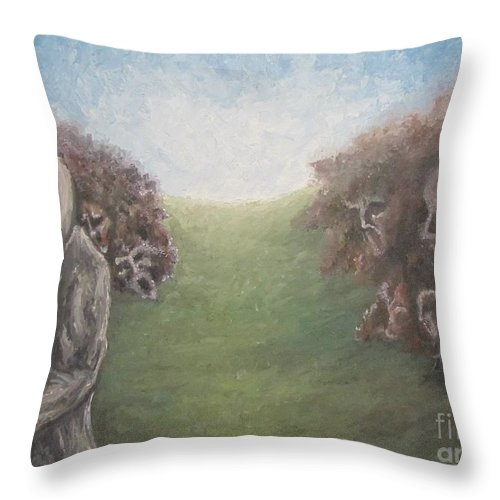 Tmad Throw Pillow featuring the painting Closure by Michael TMAD Finney