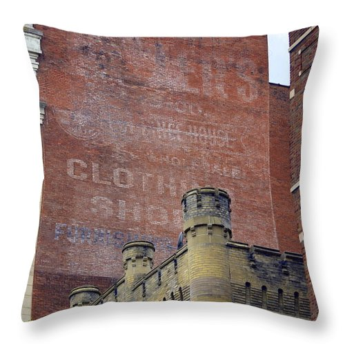 Architecture Throw Pillow featuring the photograph Classic Cincinnati Architecture by Kathy Barney