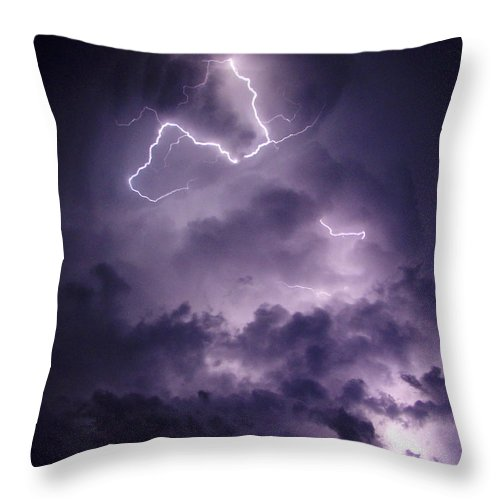 Cloud Lightning Throw Pillow For Sale By James Peterson