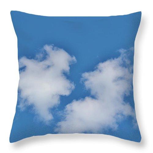 Cloud Throw Pillow featuring the photograph Cloud Shapes by Cynthia Guinn