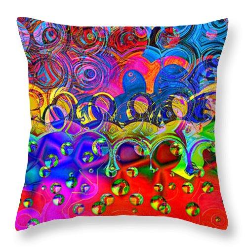 Art166 Throw Pillow featuring the digital art Cloudburst by Wendy J St Christopher