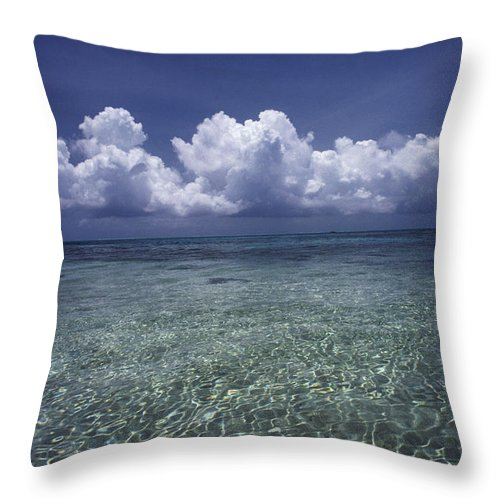 Cloud Throw Pillow featuring the photograph Clouds Over Bora Bora by Dana Hyde