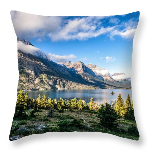 Clouds Throw Pillow featuring the photograph Clouds Roll In by Aaron Aldrich