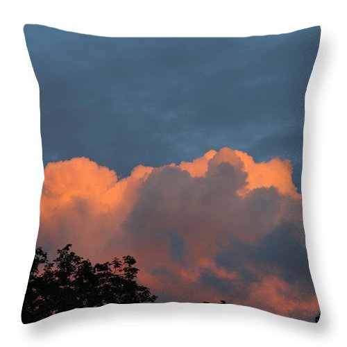 Cloud Art Throw Pillow featuring the photograph Cloudy by Neal Eslinger