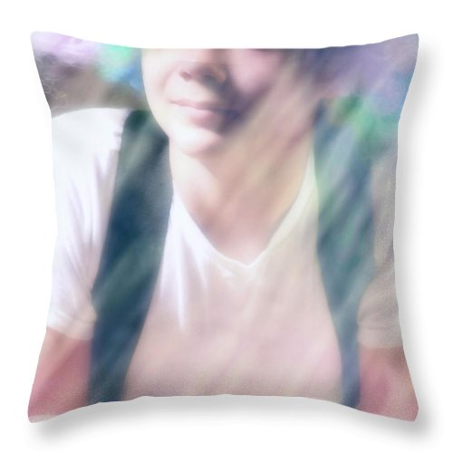 Clown Throw Pillow featuring the photograph Clowning Around by Barbara D Richards