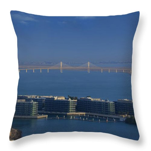 Bridge Throw Pillow featuring the photograph Clusters by Farah Faizal