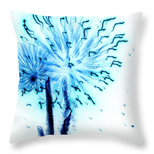 Abstract Throw Pillow featuring the painting Clyde by Laurette Escobar
