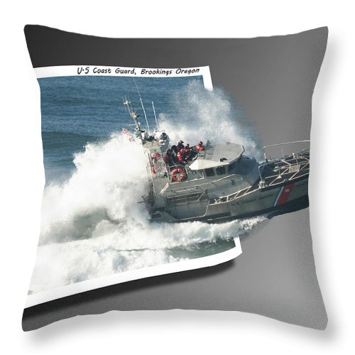 Coast Guard Throw Pillow featuring the photograph Coast Guard by Betty Depee