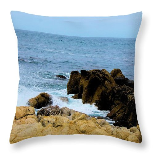 Throw Pillow featuring the photograph Coast Of California # 19 by G Berry