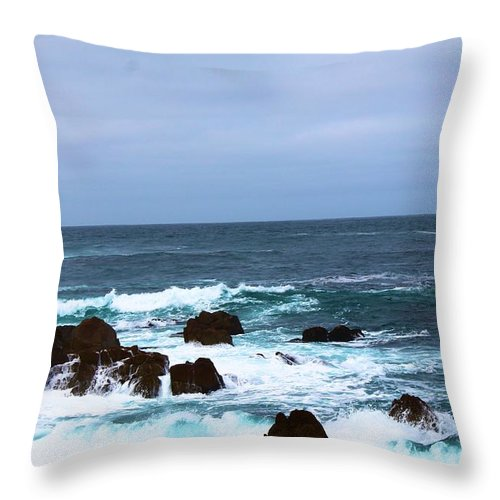Throw Pillow featuring the photograph Coast Of California # 20 by G Berry