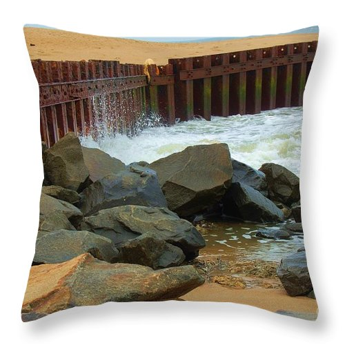 Water Throw Pillow featuring the photograph Coast Of Carolina by Debbi Granruth
