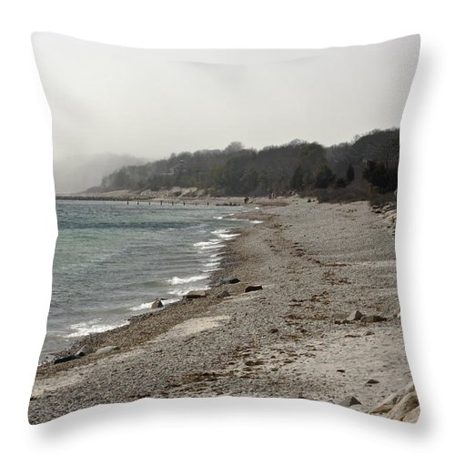 Atlantic Coast Throw Pillow featuring the photograph Coastal View 2 by Dennis Coates
