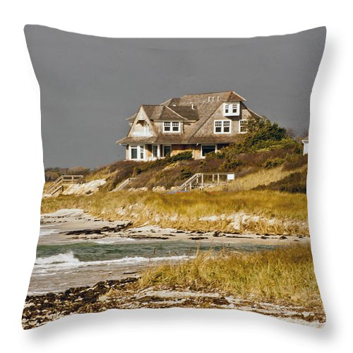Atlantic Coast Throw Pillow featuring the photograph Coastal View 3 by Dennis Coates