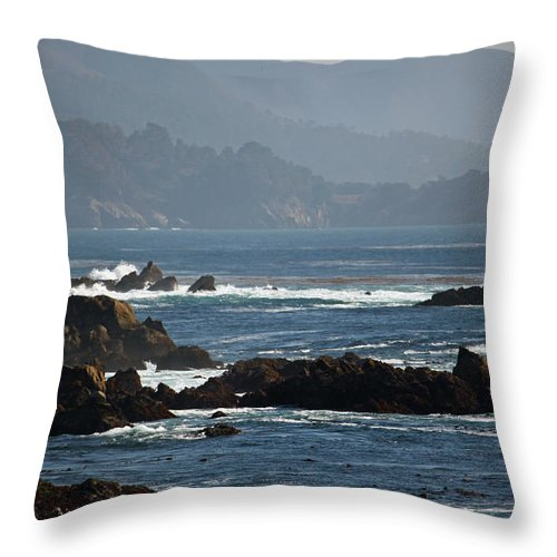 Big Sur Throw Pillow featuring the photograph Coastal View - Big Sur II by Suzanne Gaff