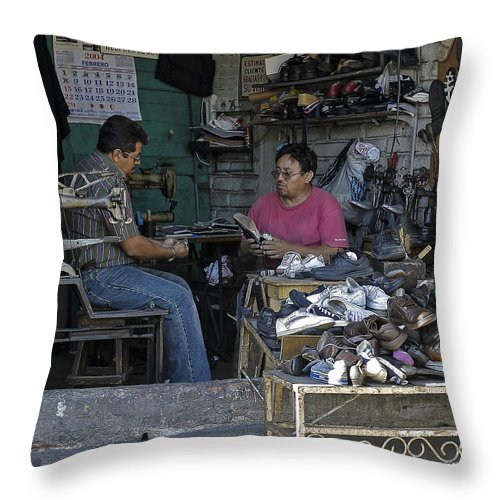 Cobbler Throw Pillow featuring the photograph Cobblers by Steven Ralser