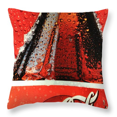 Coca-cola Throw Pillow featuring the photograph Coca Cola by Luis Alvarenga