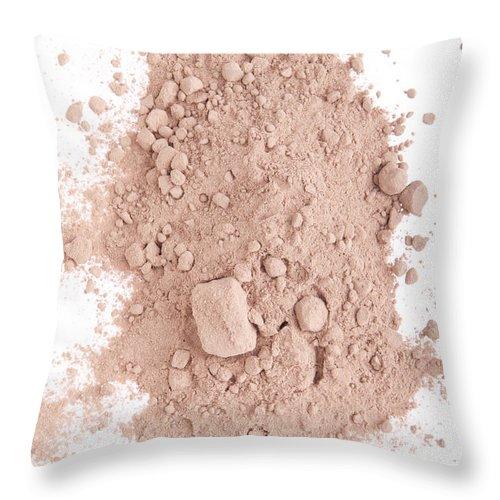 Cocoa Throw Pillow featuring the photograph Cocoa Powder by Luis Alvarenga