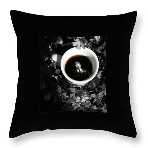 Photo Art Throw Pillow featuring the photograph Coffee With Alfred by T Cook
