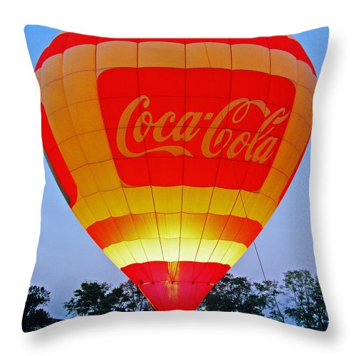 Balloon Throw Pillow featuring the digital art Coke Float by Lizi Beard-Ward