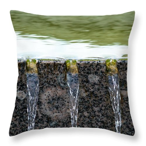 Abstract Throw Pillow featuring the photograph Cold And Clear Water - Featured 3 by Alexander Senin